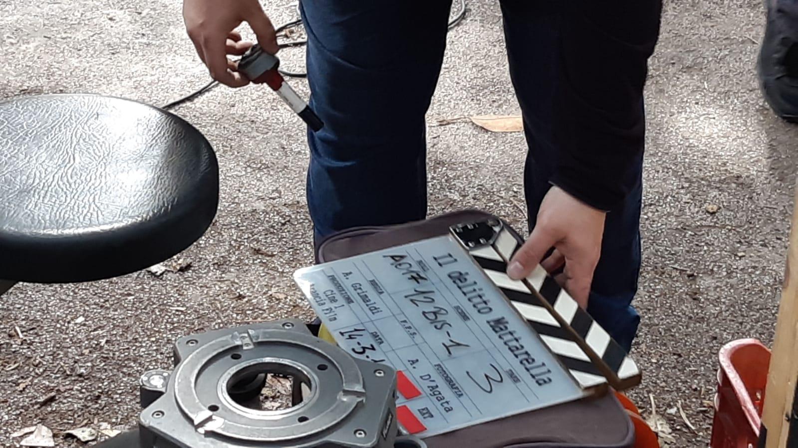 """Piano Focale sul set del film """"Il delitto Mattarella"""" di Aurelio Grimaldi."""