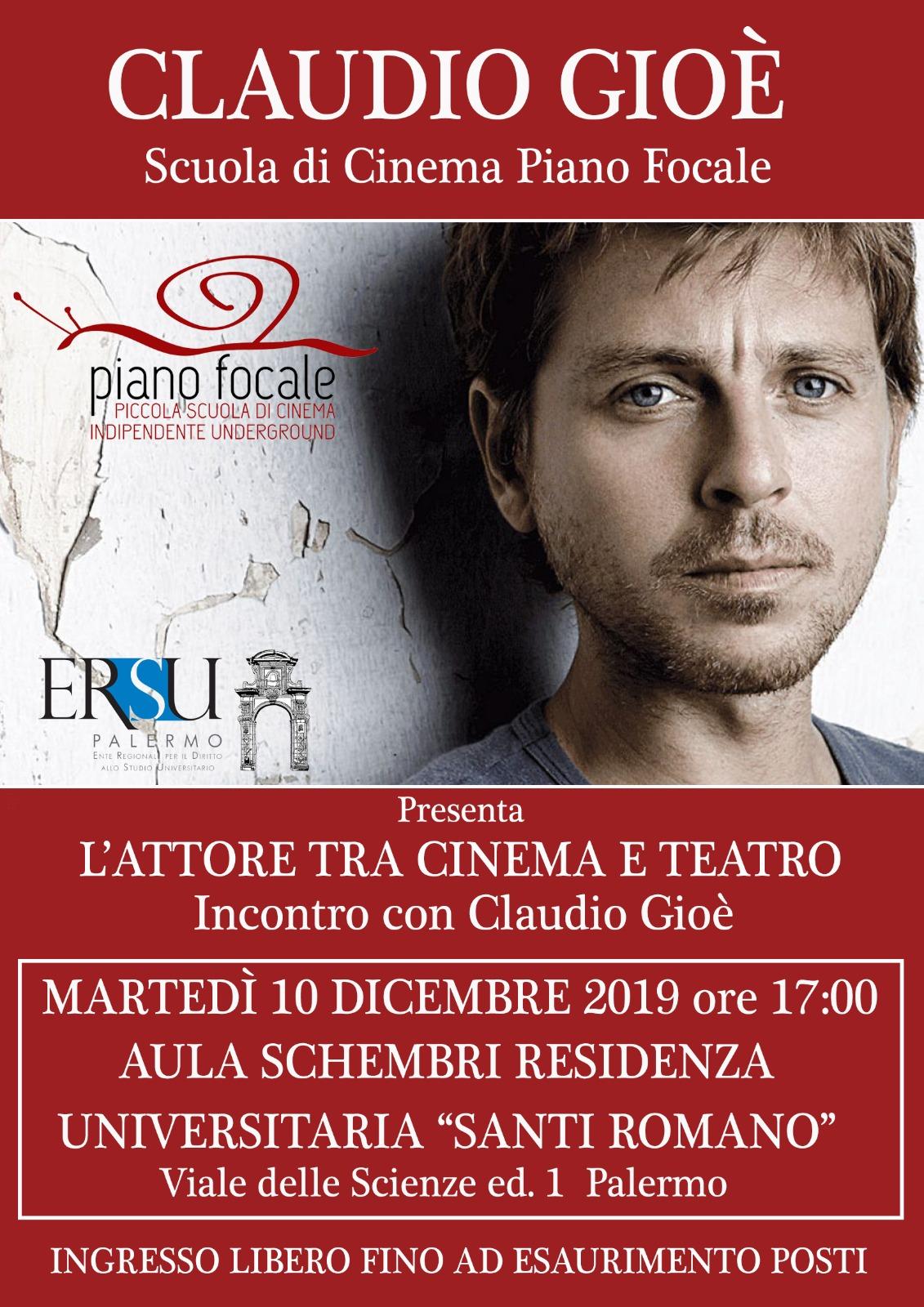 Incontro con Claudio Gioè – 10 dicembre