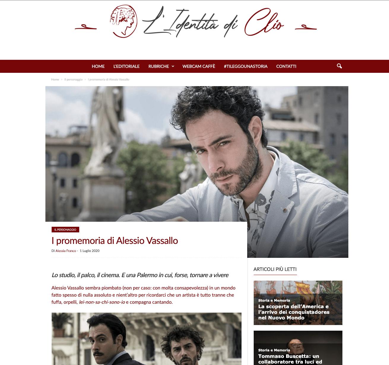 L'identità di Clio – I promemoria di Alessio Vassallo